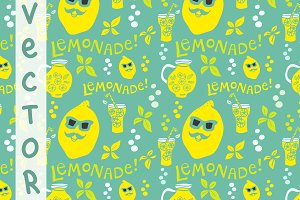 Lemonade pattern. Vector.
