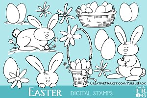 EASTER - Digital Stamps / Brushes