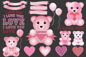 Valentine's Day Teddy Bear Clip Art