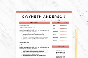 "Resume Template ""Gwyneth"""