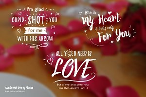 5 Greeting overlays - Words of Love