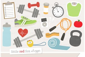 Fitness & Gym Clipart Graphics