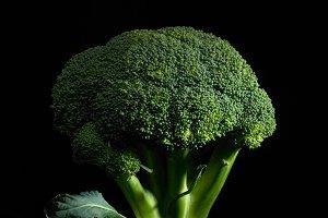 broccoli over black