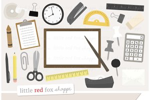 Office Supplies Clipart Graphics