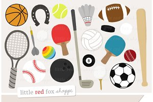 Sports Gear Clipart Graphics