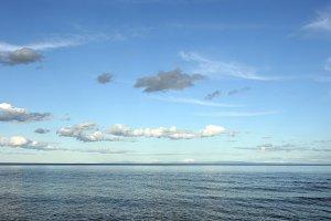 Baikal lake view in sunshine day