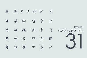 31 Rock Climbing icons