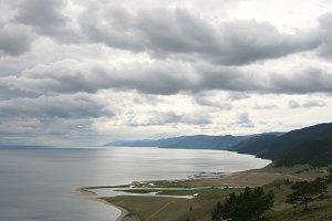 Landscape with Baikal lake