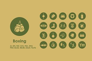 Boxing simple icons