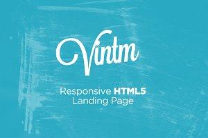VINTM™  Responsive Landing Page