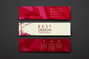 Banners in abstract style
