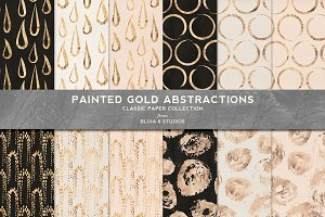 Painted Gold Abstract Drops