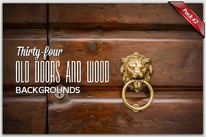 34 Doors and Wood Backgrounds Pack2