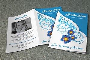 Funeral Program Template-V390