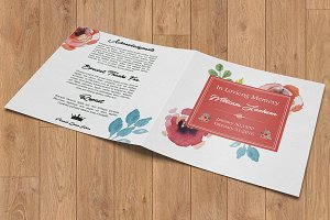 Square Funeral Program Template-V392