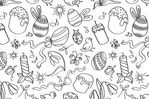 Doodle pattern easter