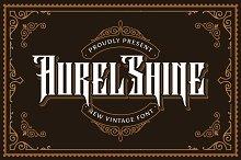 Aurel Shine - Blackletter Font by  in Fonts