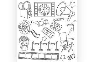Doodle vector cinema