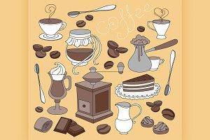 Doodle vector coffee