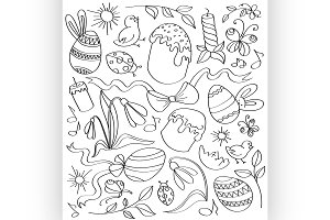 Doodle vector easter