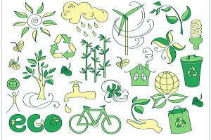 Doodle vector ecology