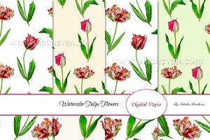 Spring Tulips. 8 Patterns
