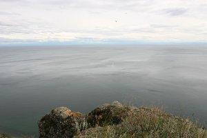 Baikal lake landscape