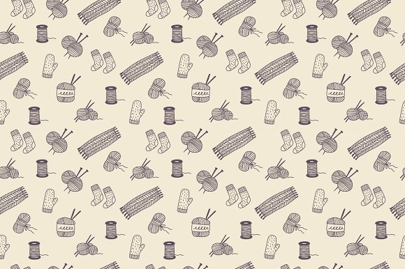 Vector set knitting in Illustrations - product preview 2
