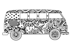 van in Tangle Patterns style