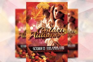 Golden Autumn - Flyer Template