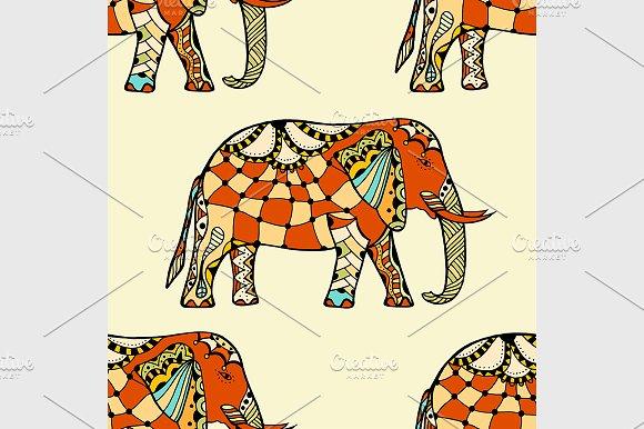 stylized Indian Elephant.