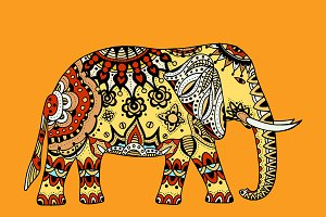 decorated Indian Elephant #1