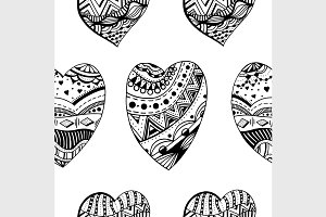 Hand drawn ornamental heart