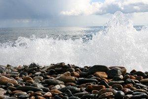 Baikal lake coastline