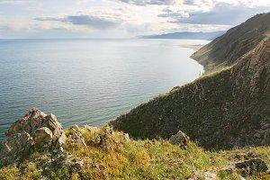 Beautiful landscape with Baikal lake