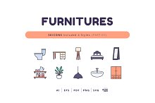 30 Icons Furnitures (Part-01) by  in Graphics