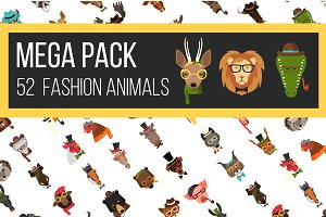 Big Bundle 52 Fashion Animal Icons