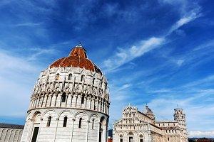 Architecture of Pisa, Italy.