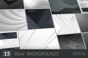 Abstract monochrome backgrounds