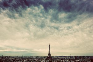 Paris, France skyline.