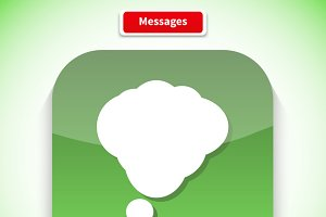 Messages App Icon Flat Style Design