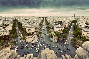 Avenue des Champs-Elysees, Paris.
