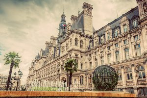 Hotel de Ville in Paris, France.
