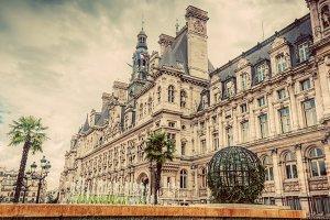 Hotel de Ville in Paris, France.