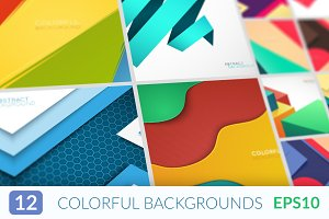Abstract flat material backgrounds.