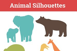 Animal Silhouettes Nursery Clip art