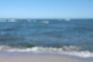 Blurred background of sea