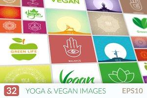 Yoga, vegan and healthy life