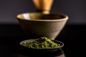 Green matcha tea