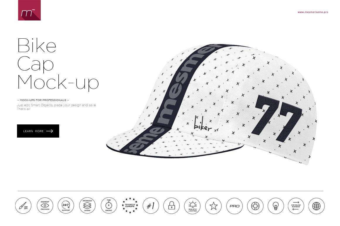 Bike Cap 2 Types Mock-up ~ Product Mockups ~ Creative Market e13904014